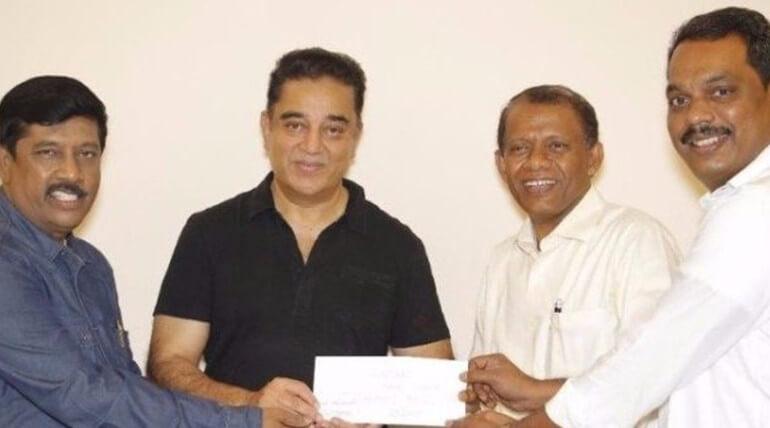kamal haasan donation for harvad university tamil chair