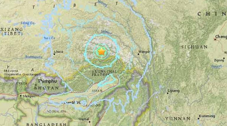 earthquake on tibet
