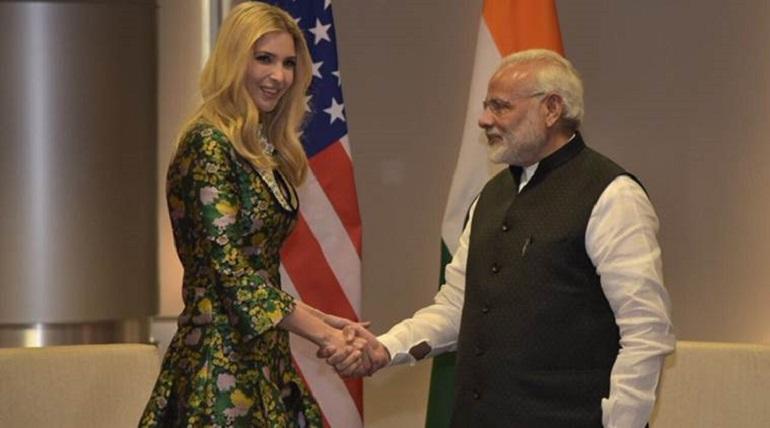 ivanka trump arrived india