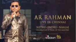 ar rahman music concert in chennai at january 12