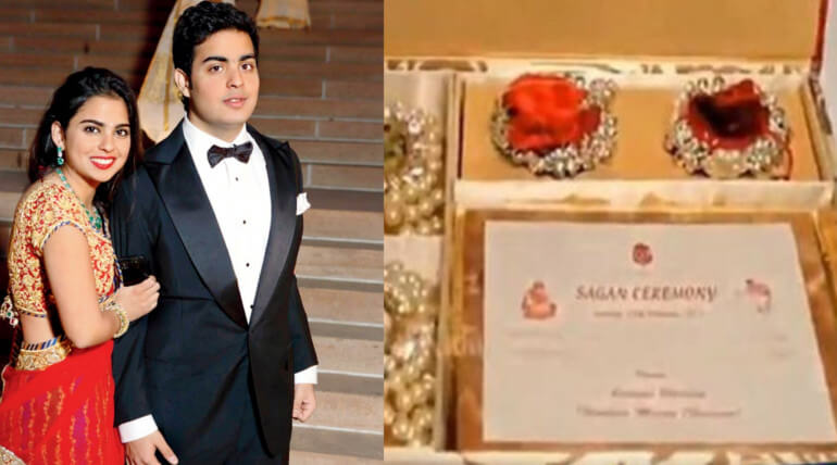 akash ambani wedding invitation