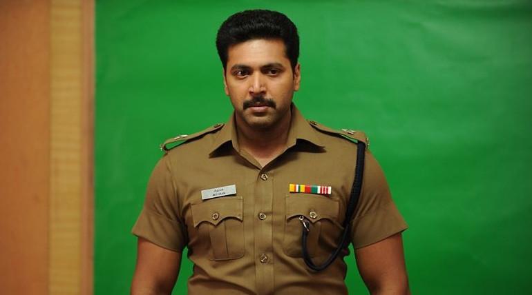 jeyam ravi plays as cop in adanga maru movie
