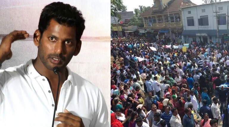vishal support fishermen protest