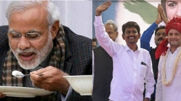 modi eats mushrooms