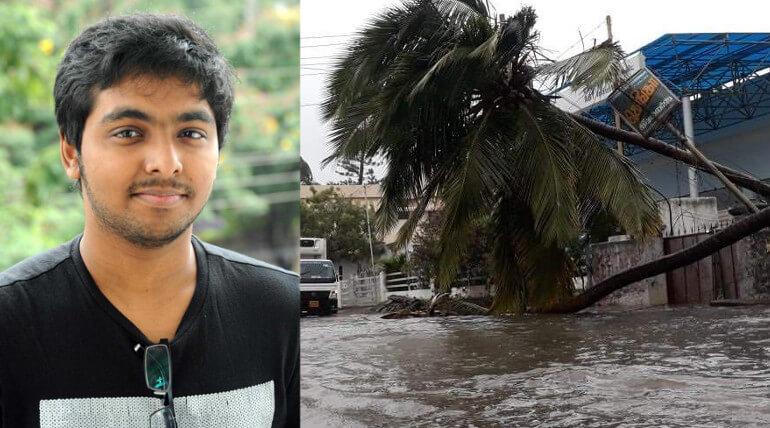 gv prakash tweet about ockhi cyclone