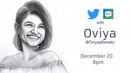 oviya twitter account live chat