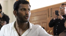 Vishal staged road protest. police arrested