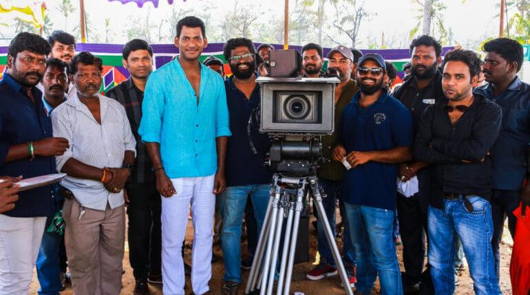 irumbu thirai movie shooting