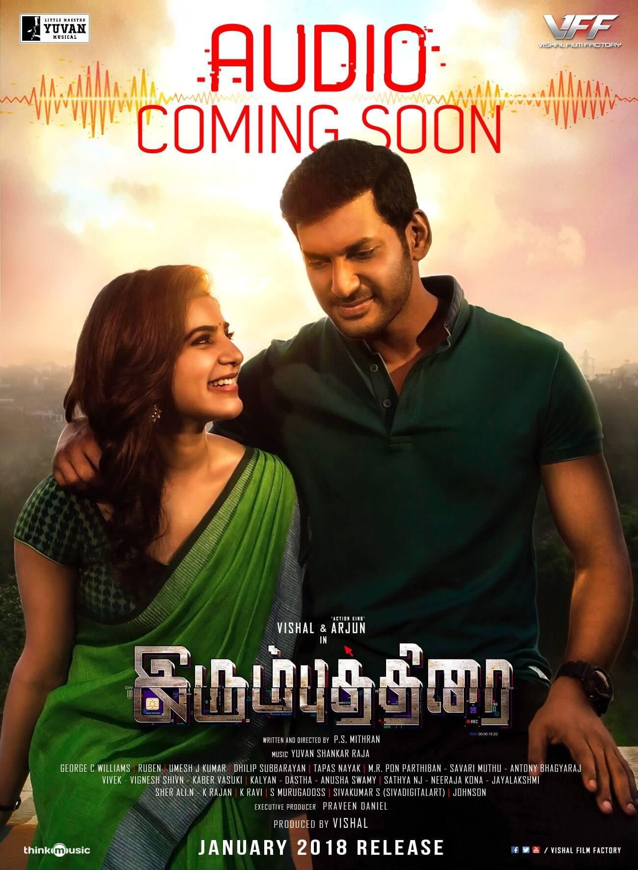 irumbu thirai movie audio coming soon