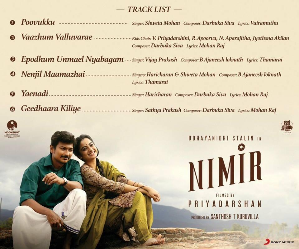 nimir movie track list
