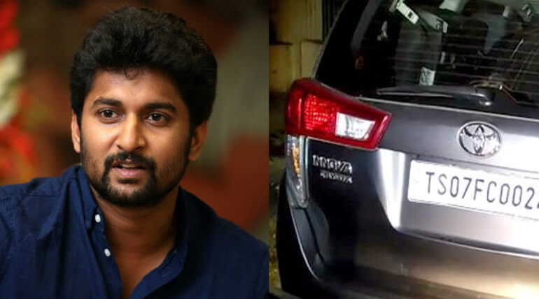 actor nani car accident in jubilee hills road
