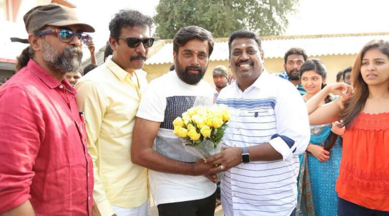 director samuthirakani new movie nadodigal 2 movie poojai