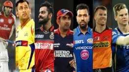 IPL 2018 team captains