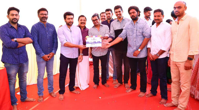 suriya 36 movie poojai starts yesterday