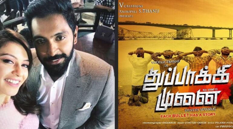 hansika joines in vikram prabhu new movie thuppakki munai
