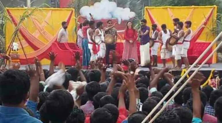 sketch movie promotion vikram tamannah dance