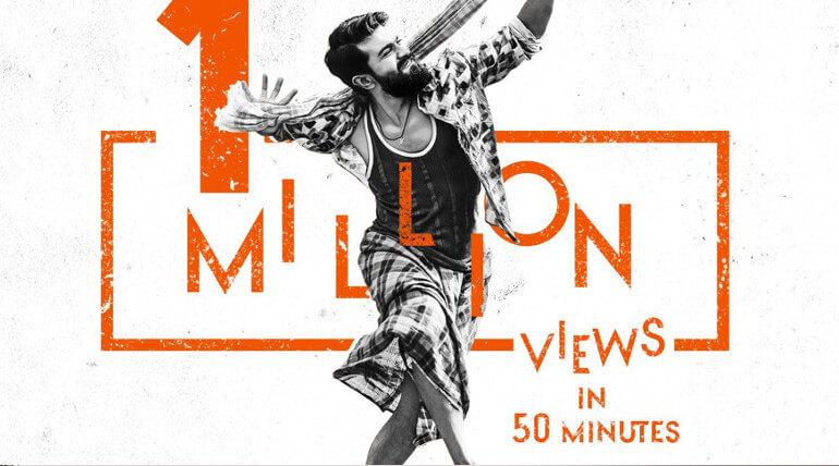 rangasthalam movie official teaser views crosses 1 million