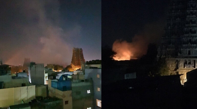 madurai meenakshi amman temple fire accident