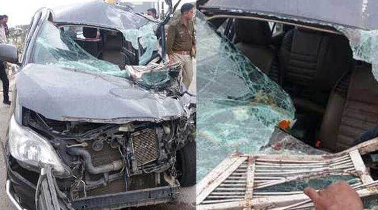prime minister modi wife injured in car accident