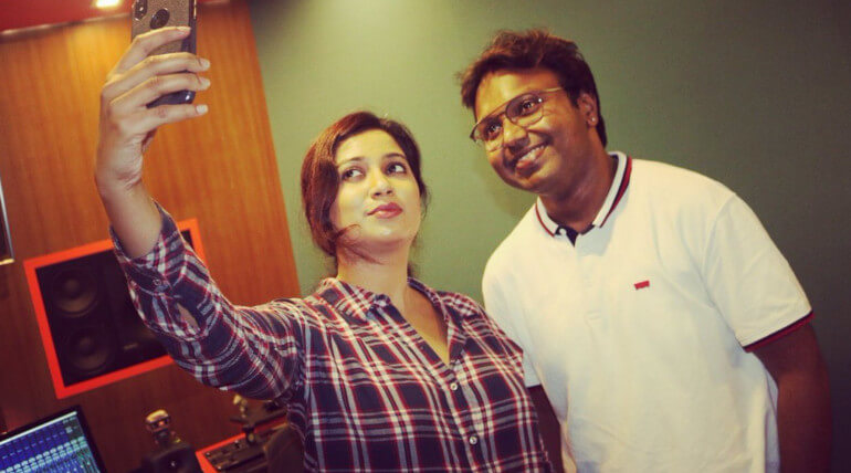 Singer Shreya Ghosal sung melody song in music director D Imman composing