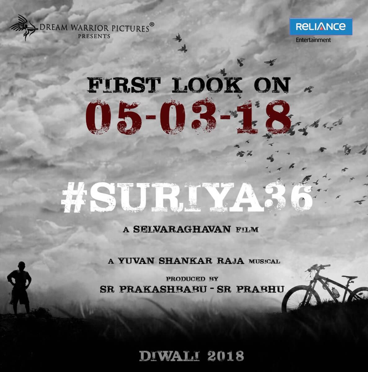 Actor Suriya New Movie First Look Poster Released on March 5th, Image Credit - Twitter (@DreamWarriorpic)