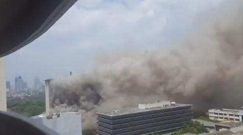 Manila Pavilion Hotel and Casino fire acident. photo credit @garnetcorpuz
