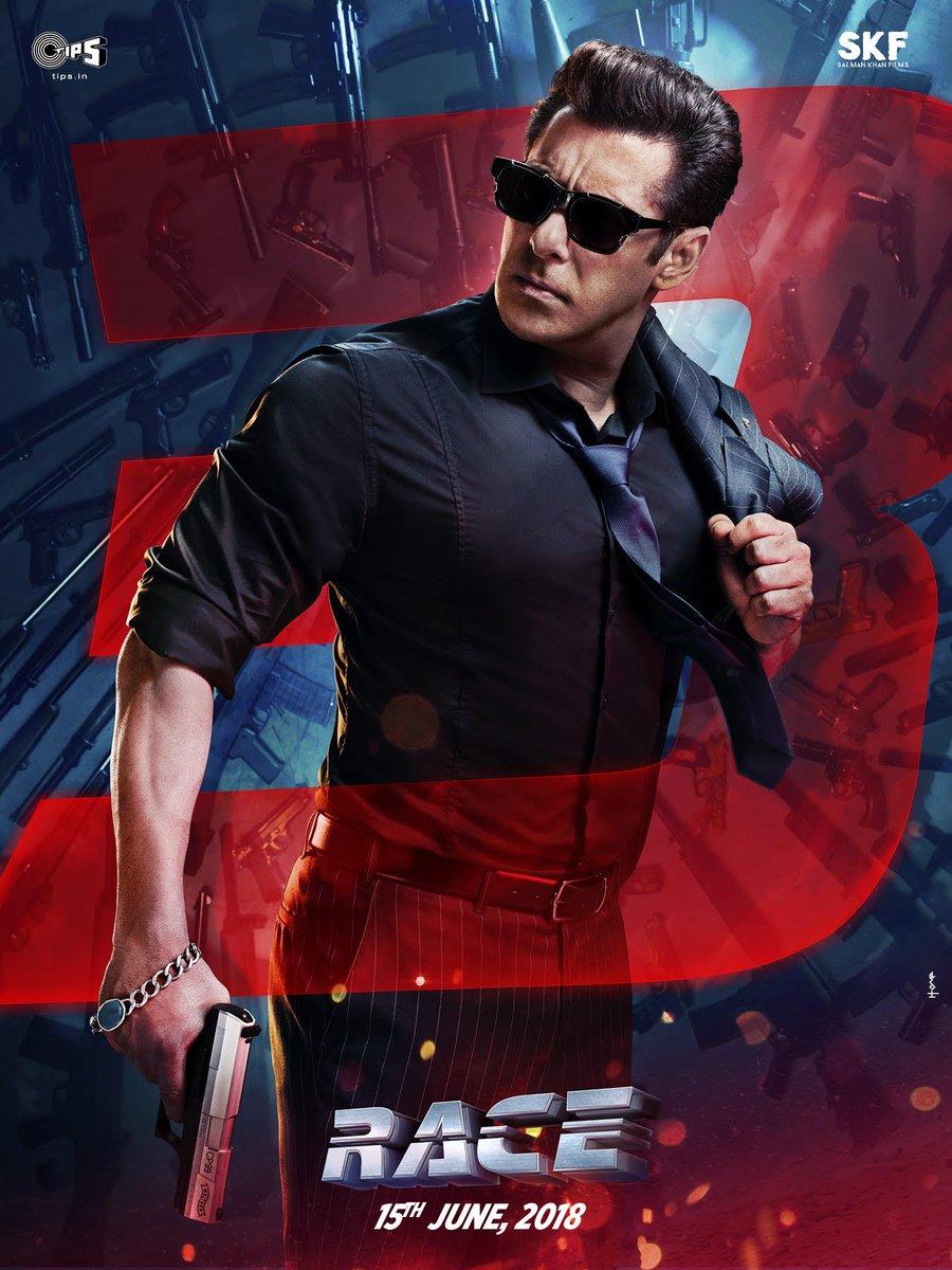 நடிகர் சல்மான் கானின் ரேஸ் 3 படத்தின் பர்ஸ்ட் லுக் போஸ்டர் வெளியாகியுள்ளது.