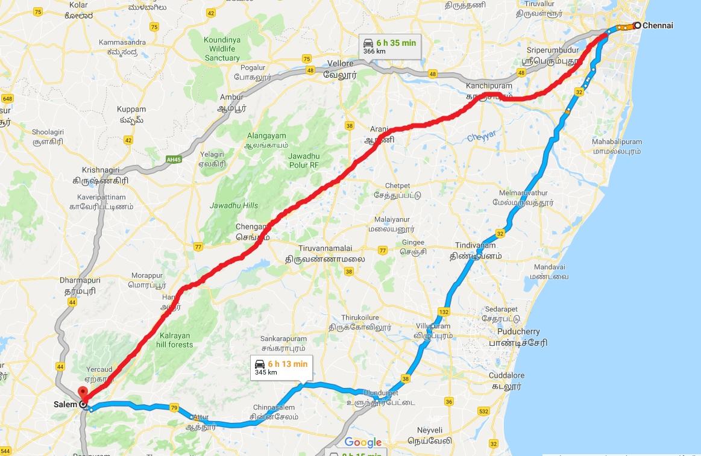 10000 கோடி செலவில் அமைய உள்ள சென்னை-சேலம் பசுமை வழிச்சாலை