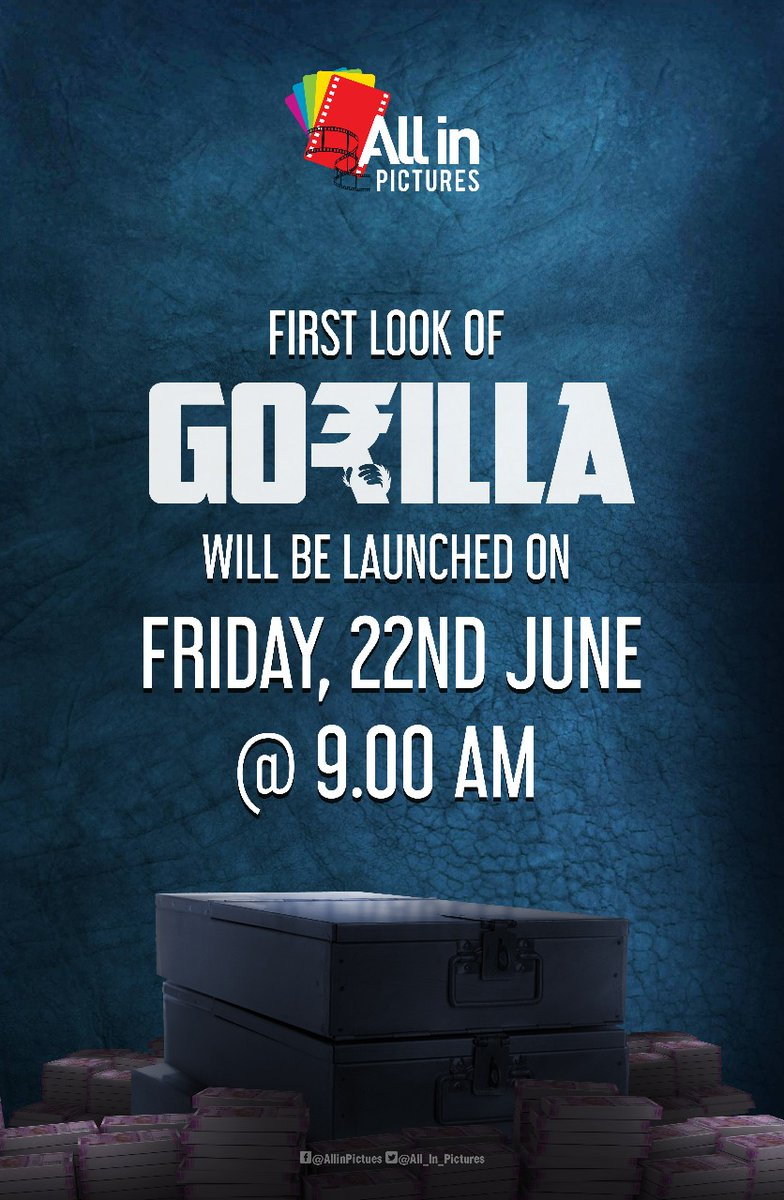 Jiiva Gorilla First Look Poster Official Announcement