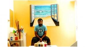 இயக்குனர் ஜெய் இயக்கத்தில் வரும் ஜூன் 22இல் வெளியாகவுள்ள ஆந்திரா மெஸ் படத்தில் பிரபல ஓவியர் வில்லன் கதாபாத்திரத்தில் நடித்துள்ளார்.